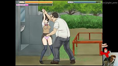 Teen VS Old guy in the park / Buchikome - High Kick! v1.20 ALL SEX SCENES