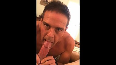slave gee sucking cock