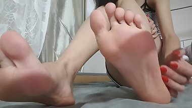 Chinese Best Bare Feet Tease