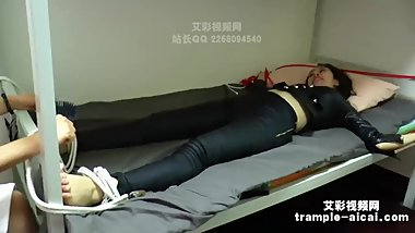 Chinese Student and Teacher Tickle Each Other