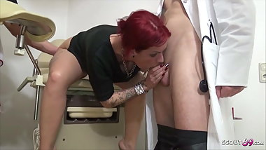 Teen Anica Red Talk to 3some Fuck at Gynecologist - German