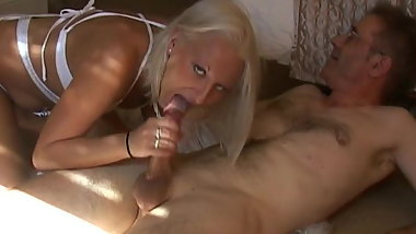 British blond escort.