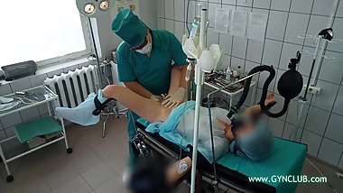 Gyno exam on the  table girl