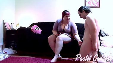 Cute Plaid Skirt BBW Goddess Makes Toilet Slave Eat Ass - Pastel Goddess