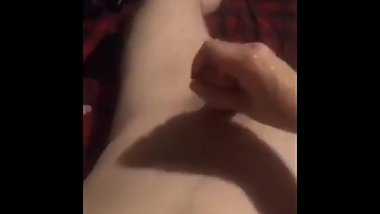 Slutty gf loves jacking my big dick off