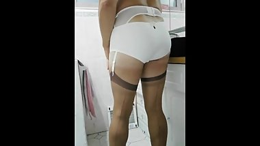 Patty crossdresser just teasing