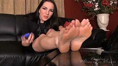 Foot blackmail joi