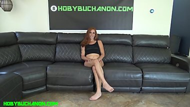 New Teen Redhead Jayme Rough Sloppy Face Fuck & Fucked Hard