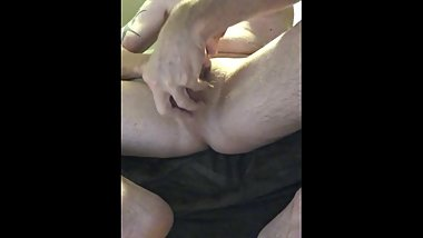 masturbating and playing with my balls