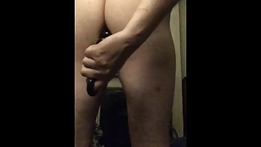 Large bead dildo fast in my noisy ass