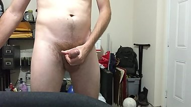 jacking off standing in garage