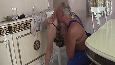 Craftsman fucks grandmas old ass