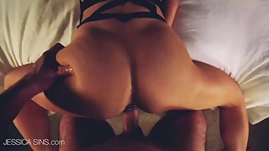 HOT GIRL FUCKED FROM BEHIND SEXY LINGERIE-JESSICA  CUMS
