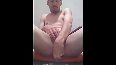 Me enjoying my toy and jerking off to porn.