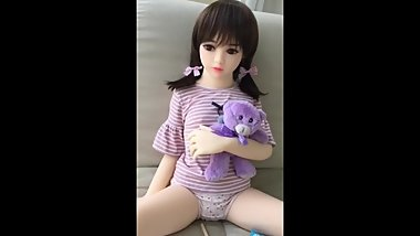 100 cm flat chest sex doll young small cute baby