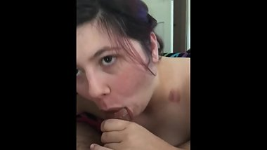 Step Brother Blows Huge Load In my Sassy Mouth