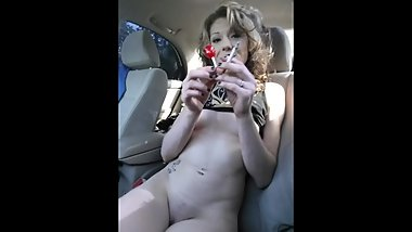 VOL UP! bubbly/edgy smoking in car public- patreon.com/theroxyblues