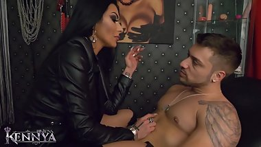 Mistress Kennya: Mistress massaging Her bull preview