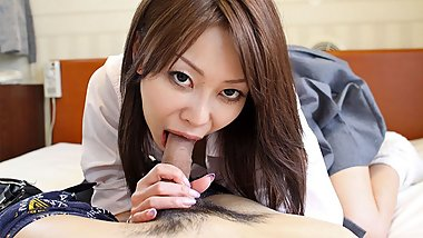 Japanese fuck doll, Yuri Aine got banged very hard, uncensor