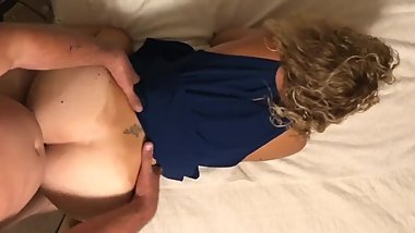 Wifes sis gets fucked after best friends wedding top view only