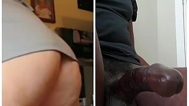 Ass eats dick