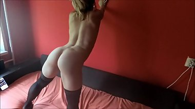 Submissive girl get spanked