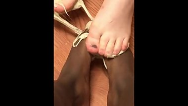 sticky, hot, nasty feet play with eachother