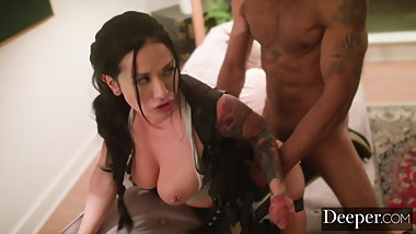 Deeper. Katrina Jade Gets Into the Game Just for Him