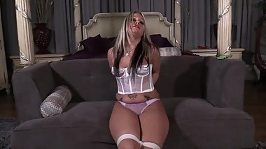 Adara Jordin - Evil Baby Sitter - Wait until dad comes home to find you tie