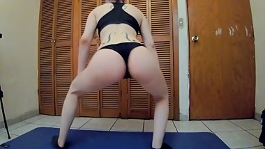 Twerking my ass in my bedroom
