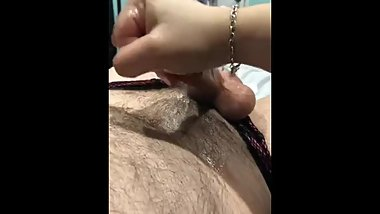 Femdom long slow edging teasing ruined orgasm for panty boy