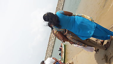 Indian Aunty in Beach