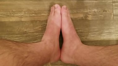 Small Male Feet - Guy Wears Womens Size 6.5 Heels - Tiny Feet