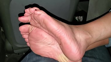 Smelly sole tease before fj from my asian/latina friend. More in private
