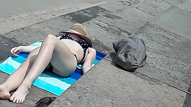 She finally flipped over showing off her sexy body
