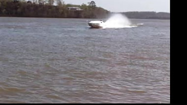 My jet boat on the river.