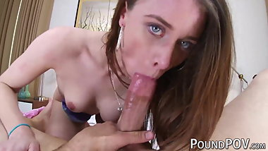 Stunning Anya Olsen POV fucked after making breakfast