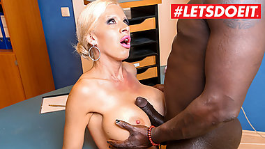 LETSDOEIT - Big Tits German Secretary Seduce BBC Janitor