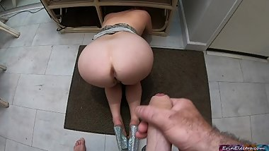 Your stepmom gets stuck and you get to fuck her (POV)