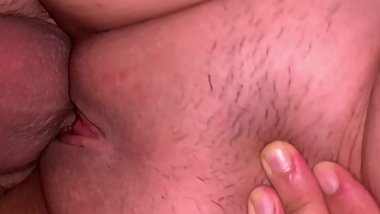 Stranger fucking my pussy bare using his first load like lube
