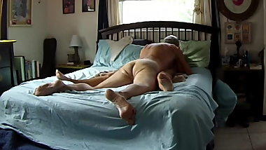 Bruce comes in his wife's sweet pussy then licks it clean