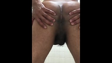 up close ass solo male store restroom