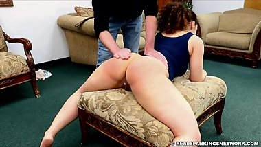 Spread legs for bare ass spanking