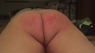 Spanked cheeks