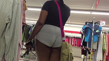 Thick Ebony Short Shorts Ass