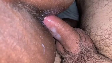 CREAMY SEX UNDER COVERS BEFORE BED - NOT ALLOWED TO SLEEP IN THE SAME BED