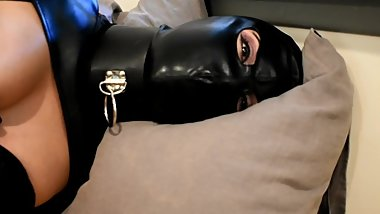 KinkyViolet Leather and Latex Bondage Girl