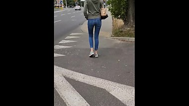 Candid Teen Walking