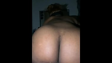 Big booty gf riding white cock