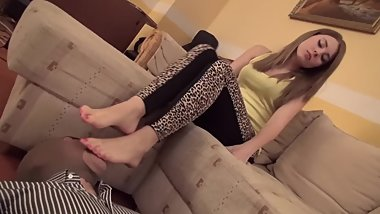 Lady Gabriella - Dollars At My Feet - Foot Slave Training